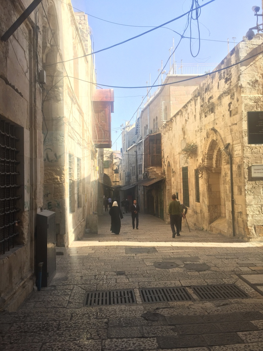 Rebekah Stevens in Israel: Streets of Jerusalem in the Muslim quarter