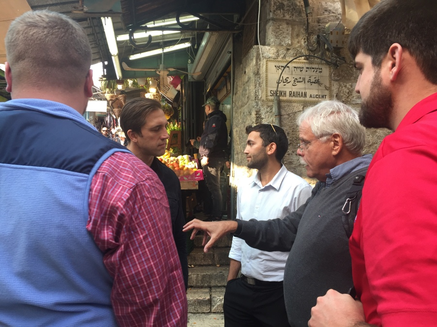 Rebekah Stevens in Israel: YRs and our Jewish friends as we visit the Muslim quarter