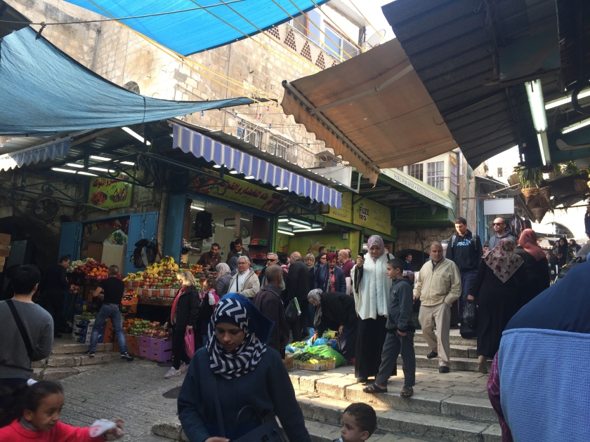 Rebekah Stevens in Israel: Visiting the Muslim quarter