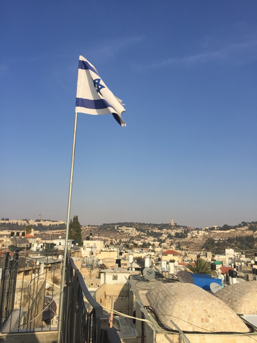 Rebekah Stevens in Israel: Israeli flag flies high over Jewish complex in the Muslim quarter
