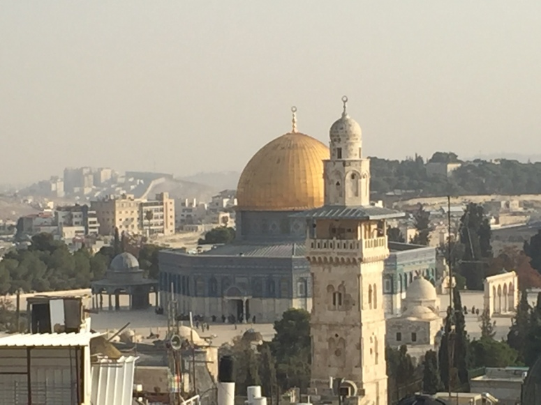 Rebekah Stevens in Israel: Great view from Jewish complex in the Muslim quarter