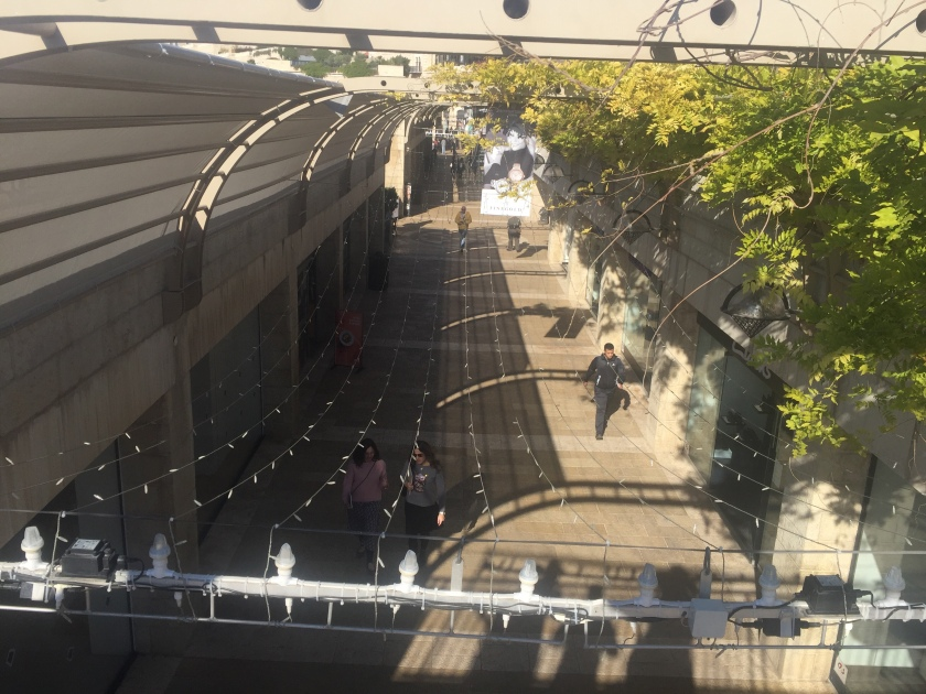 Rebekah Stevens in Israel: This is a shopping mall now, but in 1967 this was a dangerous street